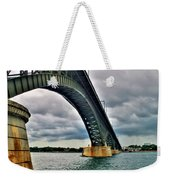 009 Stormy Skies Peace Bridge Series Weekender Tote Bag