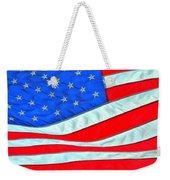 01 American Flag Weekender Tote Bag