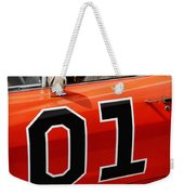 01 - The General Lee 1969 Dodge Charger Weekender Tote Bag by Gordon Dean II