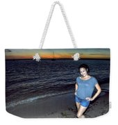 010 A Sunset With Eyes That Smile Soothing Sounds Of Waves For Miles Portrait Series Weekender Tote Bag