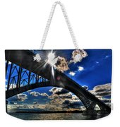 010  Peace Bridge Series II Beautiful Skies Weekender Tote Bag