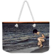 011 A Sunset With Eyes That Smile Soothing Sounds Of Waves For Miles Portrait Series Weekender Tote Bag