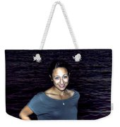 012 A Sunset With Eyes That Smile Soothing Sounds Of Waves For Miles Portrait Series Weekender Tote Bag