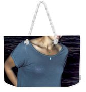 015 A Sunset With Eyes That Smile Soothing Sounds Of Waves For Miles Portrait Series Weekender Tote Bag
