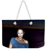 016 A Sunset With Eyes That Smile Soothing Sounds Of Waves For Miles Portrait Series Weekender Tote Bag