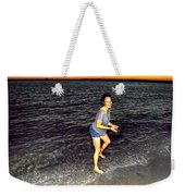 017 A Sunset With Eyes That Smile Soothing Sounds Of Waves For Miles Portrait Series Weekender Tote Bag