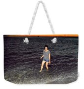 018 A Sunset With Eyes That Smile Soothing Sounds Of Waves For Miles Portrait Series Weekender Tote Bag