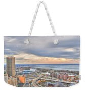 022 Series Of Buffalo Ny Via Birds Eye Downtown Buffalo Ny Weekender Tote Bag