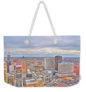 037 Series Of Buffalo Ny Via Birds Eye Downtown Buffalo Weekender Tote Bag