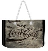 Coca Cola Sign Grungy Red Retro Style Weekender Tote Bag