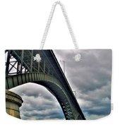 009 Stormy Skies Peace Bridge Series Weekender Tote Bag