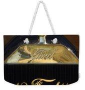 1911 Ford Model T Torpedo Hood Ornament Weekender Tote Bag by Jill Reger