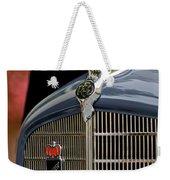 1935 Reo Speedwagon Pickup Hood Ornament Weekender Tote Bag