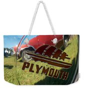 1947 Plymouth Coupe Hubcap Weekender Tote Bag
