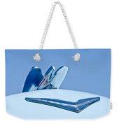 1954 Chrysler New Yorker Deluxe Hood Ornament Weekender Tote Bag
