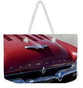 1956 Plymouth Hood Ornament Weekender Tote Bag