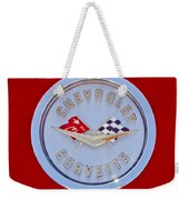 1958 Chevrolet Corvette Emblem Weekender Tote Bag
