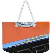 1958 Chevrolet Corvette Hood Emblem Weekender Tote Bag
