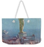 7 Wonders Of The World, Colossus Weekender Tote Bag by Photo Researchers