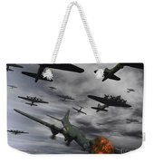 A B-17 Flying Fortress Is Set Ablaze Weekender Tote Bag