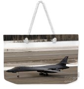 A B-1b Lancer Performs A Touch And Go Weekender Tote Bag