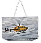 A Bell 407 Utility Helicopter Prepares Weekender Tote Bag