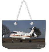 A Bombardier Global 5000 Vip Jet Weekender Tote Bag
