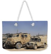 A British Armed Forces Snatch Land Weekender Tote Bag