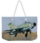 A Bulgarian Air Force Mig-21um Jet Weekender Tote Bag by Anton Balakchiev