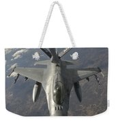 A Chilean Air Force F-16 Refuels Weekender Tote Bag