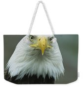 A Close View Of An American Bald Eagle Weekender Tote Bag