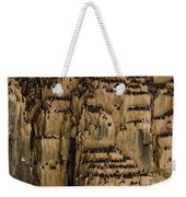 A Colony Of Little Auks Line Jagged Weekender Tote Bag