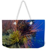 A Colony Of Red Whip Fan Corals Weekender Tote Bag