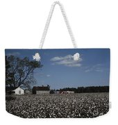 A Cotton Field Surrounds A Small Farm Weekender Tote Bag