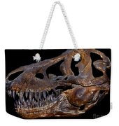 A Genuine Fossilized Skull Of A T. Rex Weekender Tote Bag