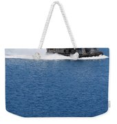 A Landing Craft Air Cushion Approaches Weekender Tote Bag