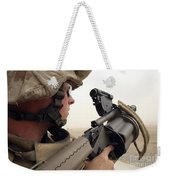 A Marine Aims In With A M-32 Multiple Weekender Tote Bag