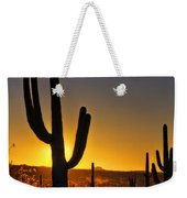 A Saguaro Sunrise  Weekender Tote Bag