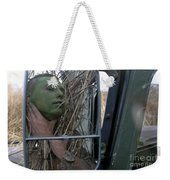 A Scout Observer Applies Camouflage Weekender Tote Bag