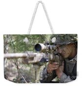 A Sniper Sights In On A Target Weekender Tote Bag