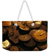 A Still Life Of Old Watch Faces Weekender Tote Bag