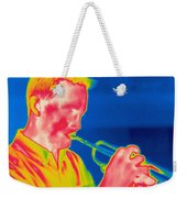 A Thermogram Of A Musician Playing Weekender Tote Bag