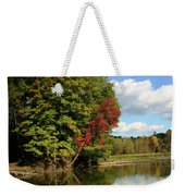 A Touch Of Autumn Weekender Tote Bag by Kristin Elmquist