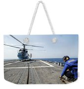 A Ukrainian Navy Ka-27 Helix Helicopter Weekender Tote Bag
