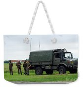 A Unimog Vehicle Of The Belgian Army Weekender Tote Bag by Luc De Jaeger