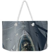 A U.s. Air Force F-16c Fighting Falcon Weekender Tote Bag by Giovanni Colla