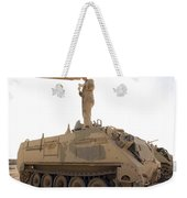 A Us Army Mechanic Uses A M113 Weekender Tote Bag