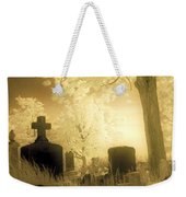 Abandoned And Overgrown Cemetery Weekender Tote Bag