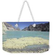 Acidic Crater Lake, Kawah Ijen Volcano Weekender Tote Bag
