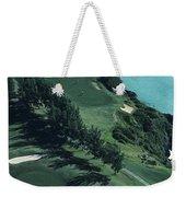 Aerial Of A Golf Course In Bermuda Weekender Tote Bag